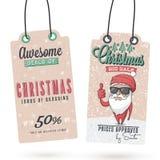 Vendite Hang Tags di Natale Immagine Stock