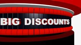 Vendite nere di venerdì con i grandi sconti e le offerte speciali