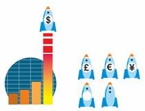 Vendite saettanti in alto grafiche royalty illustrazione gratis