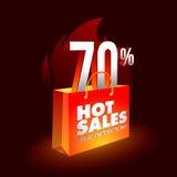 Vendite, sconti di speciali ed offerte caldi su fuoco Immagini Stock