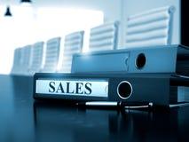Vendite sulla cartella dell'ufficio Immagine tonificata 3d Immagine Stock Libera da Diritti