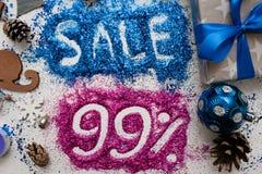Vendite sulle feste del nuovo anno e di Natale Immagini Stock Libere da Diritti
