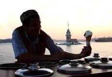 Vendite turche tradizionali del gelato fotografie stock