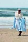 Venditore ambulante alla spiaggia Fotografia Stock Libera da Diritti