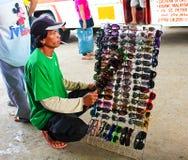 Venditore ambulante in Asia Fotografia Stock Libera da Diritti
