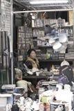 Venditore ambulante cinese a Hong Kong immagine stock