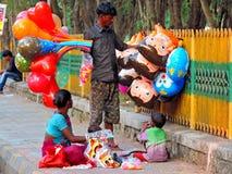 Venditore ambulante in India Immagine Stock