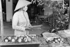 Venditore ambulante nel Vietnam fotografie stock libere da diritti