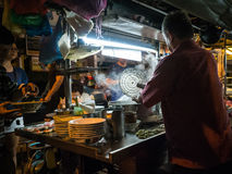 Venditore ambulante a Penang, George Town Immagini Stock Libere da Diritti