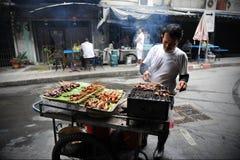 Venditore ambulante sul lavoro Fotografia Stock Libera da Diritti