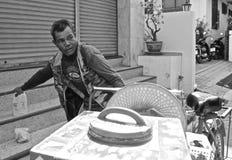 Venditore ambulante tailandese del gelato fotografia stock libera da diritti