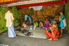 Venditore artificiale degli ornamenti in villaggio giusto, museo della scultura, per la matematica di Kaneri, Kolhapur, maharasht Fotografia Stock Libera da Diritti