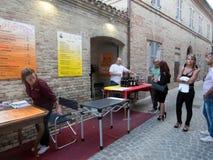 Venditore dei vini italiani Fotografie Stock