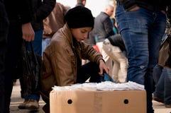 Venditore del bambino nell'Irak Immagini Stock