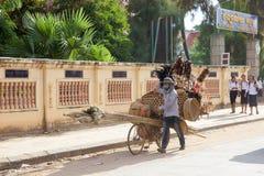 Venditore del cambodian della via fotografia stock libera da diritti