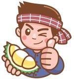 Venditore del Durian royalty illustrazione gratis