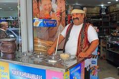 Venditore del gelato Immagine Stock