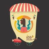 Venditore del gelato Immagini Stock