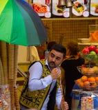 Venditore del gelato Fotografie Stock