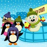 Venditore del gelato dell'orso polare Fotografie Stock Libere da Diritti