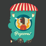 Venditore del popcorn Fotografia Stock Libera da Diritti