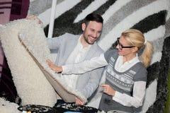Venditore del tappeto fotografie stock libere da diritti