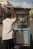 Venditore dell'alimento della via in Malioboro Fotografia Stock