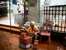 Venditore dell'uccello in Tailandia Fotografie Stock Libere da Diritti