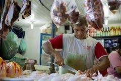 Venditore della carne immagini stock