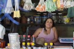 Venditore della salsa fotografie stock libere da diritti