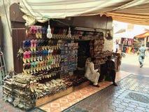 Venditore della scarpa del Dubai Fotografie Stock