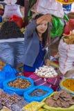 Venditore delle verdure nel Myanmar Fotografie Stock Libere da Diritti