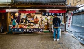 Venditore di alimento Fotografie Stock Libere da Diritti