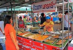 Venditore di alimento tailandese, Tailandia Fotografia Stock