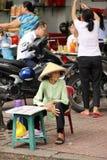 Venditore di biglietto di lotteria, Ho Chi Minh City, Vietnam Fotografia Stock Libera da Diritti