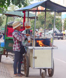 Venditore di pasto rapido della via, stile khmer Fotografie Stock