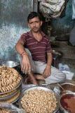 Venditore indiano Fotografia Stock