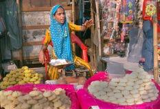 Venditore indiano della donna Fotografie Stock