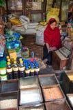 Venditore, Kathmandu, Nepal fotografia stock libera da diritti