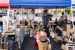 Venditore a Vinton Dogwood Festival fotografia stock