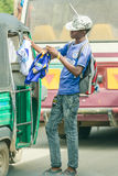 Venditori ambulanti di Dar Es Salaam Fotografie Stock