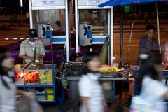 Venditori a Bangkok fotografia stock