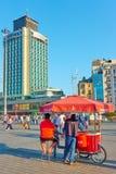 Venditori delle castagne arrostite a Costantinopoli Immagine Stock Libera da Diritti