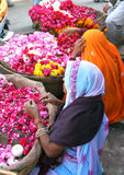 Venditori in Pushkar, India del fiore fotografia stock libera da diritti