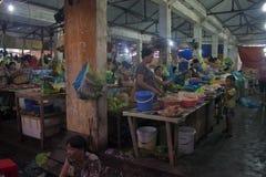 Venditori su un mercato fotografia stock libera da diritti