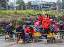 Venditori sulla via in Hunan, Cina immagini stock libere da diritti
