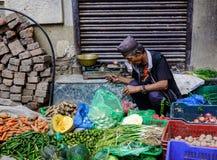 Venditori sulla via a Kathmandu, Nepal Immagini Stock