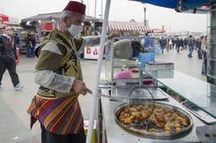 Venditori tradizionali del dolce del morso dell'ottomano di Eminonu Fotografie Stock Libere da Diritti