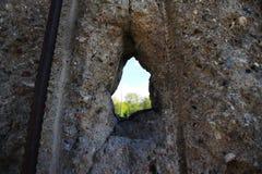 Vendo o mundo embora Berlin Wall fotografia de stock
