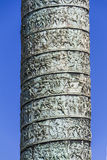 Vendome列,片段,巴黎 免版税库存照片